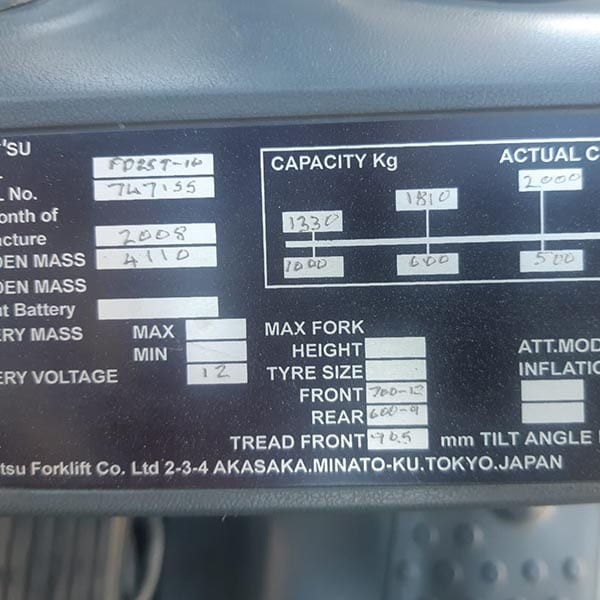 Used Forklift_MHE_F727